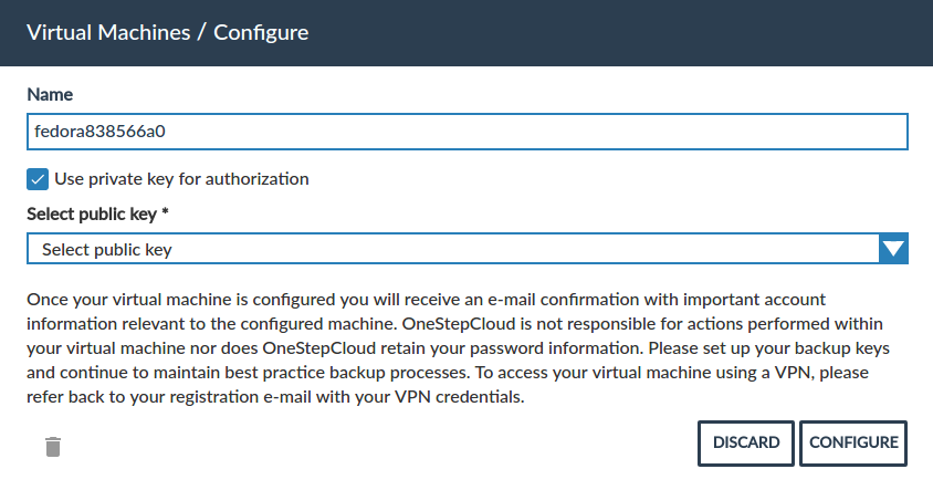 Virtual machine configuration