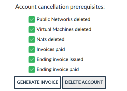 Removing account